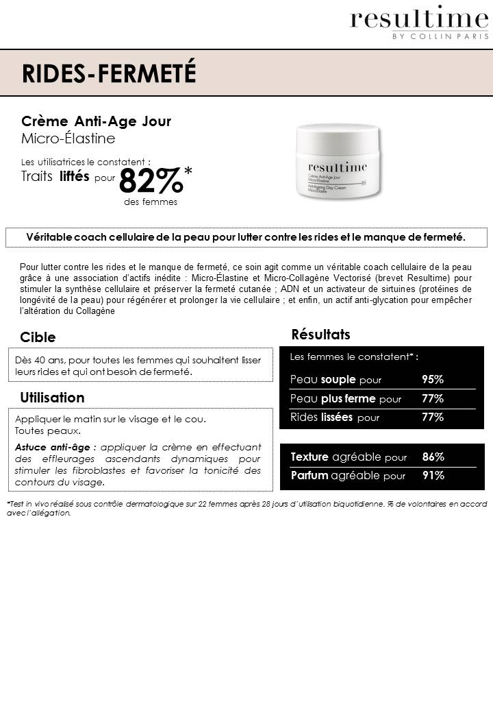 creme anti-age ride fermeté resultime