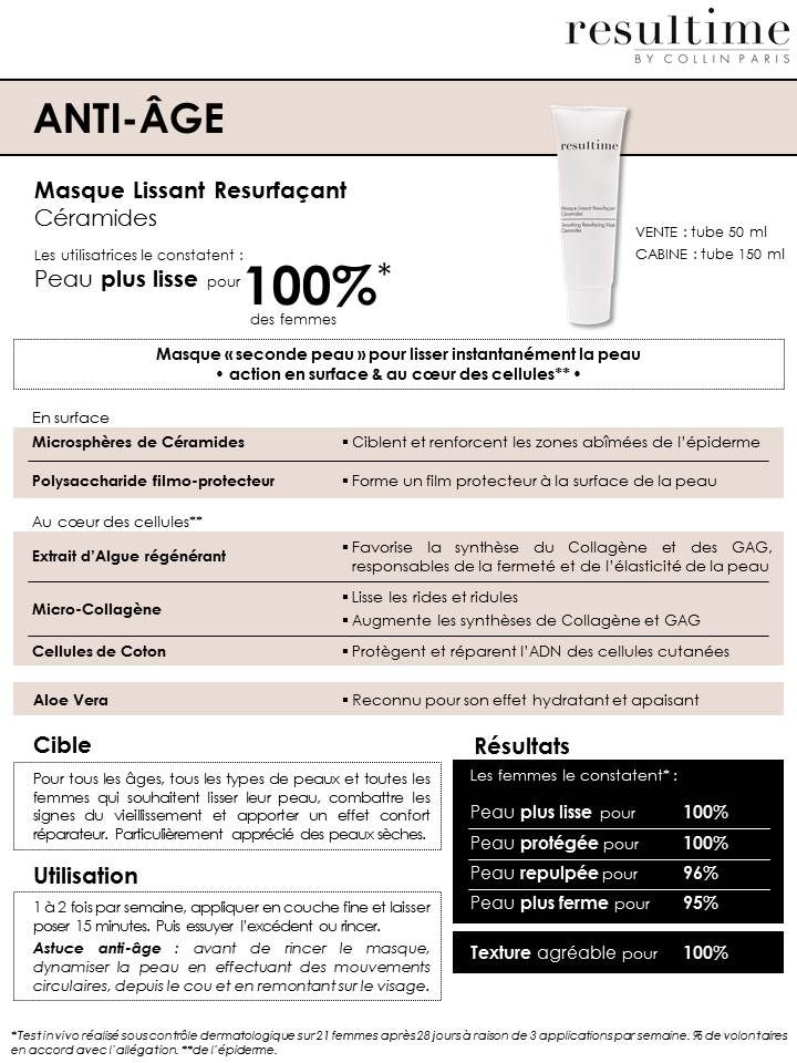 masque resurfacant RESULTIME